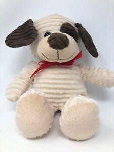 Dan-Dee-Dog-Puppy-Plush-Cream-Brown-Eye-Patch-Corduroy-Stuffed-Animal-Toy-Lovey
