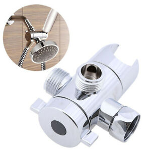 Am-Metal-Bathroom-Shower-Head-Valve-3-Way-Water-Separator-Tap-T-Adapter-Diverte