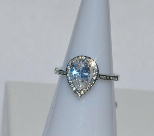 Echt 925 Sterling Silber Ring  Zirkonia crystal Hochzeit  Gr 52 54 56 58 60