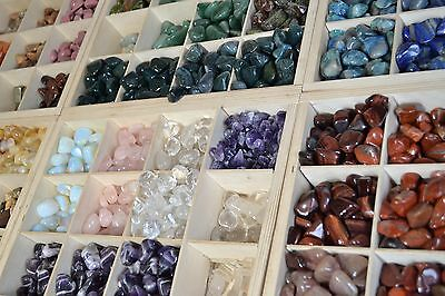 polished crystal gemstone 20-30mm Tumbled stones 20 different Large
