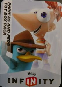 Disney Infinity 1.0 Phineas /& Ferb Agent P Perry the Platypus Web Code Card