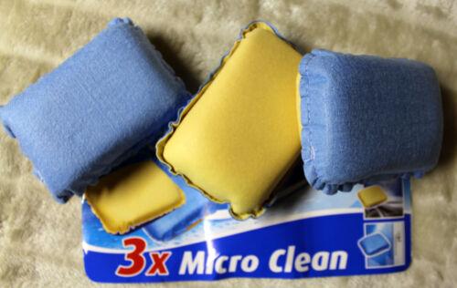 Reinigung Schwamm Reinigungsschwamm für Glas Schwämme 3 Stück Sauberkeit