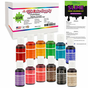 Details about 12 Color Liqua-Gel Slime Making Food Coloring Dye Kit -  Non-Toxic, Food Grade