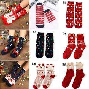 4 Pair Gift Set Country Kids Baby Boys Santa Reindeer Christmas Holiday Socks