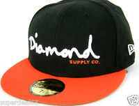 Diamond Supply Co. Cap Og Script Fitted Hat Era 59fifty Red Black Diamond