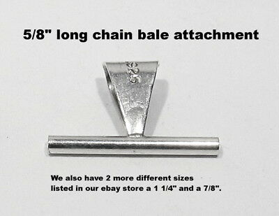 """NEW 925 Silver Pendant Chain Bale Attachment Converter for your Brooch Pin 5//8/"""""""