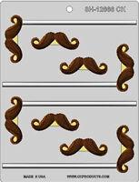 Mustache Assortment Lollipop Hard Candy Mold From Lorann 5578-