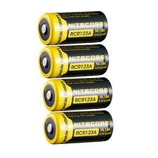 4x NITECORE NL166 RCR123A 16340 650mAh 7A 3.7V Li-Mn Rechargeable Battery USA