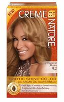 Creme Of Nature Exotic Shine Color With Argan Oil, Light Caramel Brown 9.2, 1 Ea