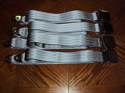 Buick Chevrolet GM Pontiac Oldsmobile Car Truck Rat Hot Rod GRAY Seat Belts USA
