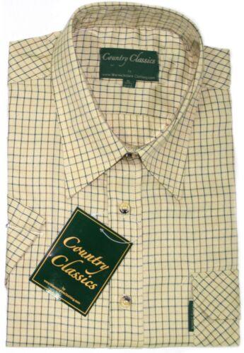 Country Classic Short Sleeve Shirts Cartmel Check Shirt