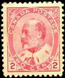 Canada-90-mint-F-VF-OG-HR-DG-1903-King-Edward-VII-2c-carmine-CV-60-00