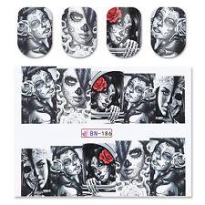 2X Born Pretty Wasser Transfer Nagel Sticker Nail Dekoration Aufkleber Tattoo