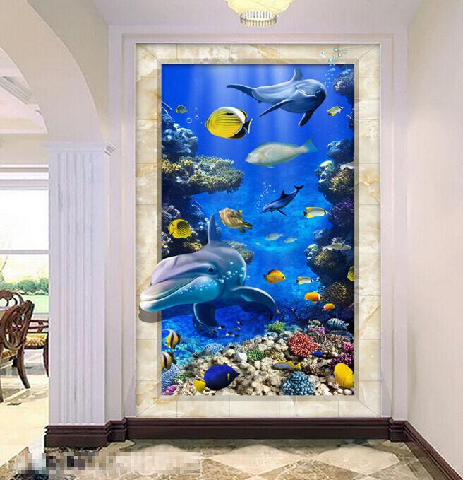 3D pesce vivaio natura Pavimento Foto Wallpaper Murales Muro Stampa Decalcomania