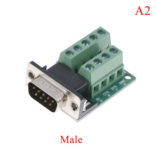 DB9 male female adapter signals terminal module RS232 serial to DB9 connector TB
