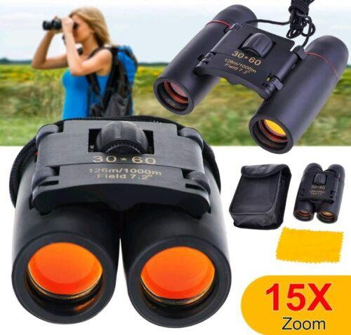 Viaje de acampar al aire libre 30 Zoom x60 día noche visión binoculares telescopio plegable