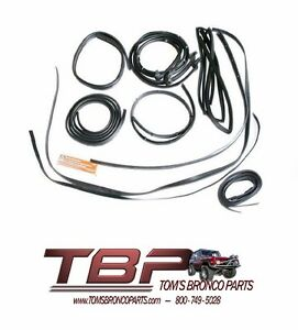 1969-1977 Ford Bronco 13 Piece Rubber Weatherstripping KIT ...