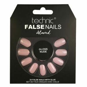 Technic-Squareletto-Almond-Stiletto-Shape-24-False-Nails-with-Glue-Colour-Finger
