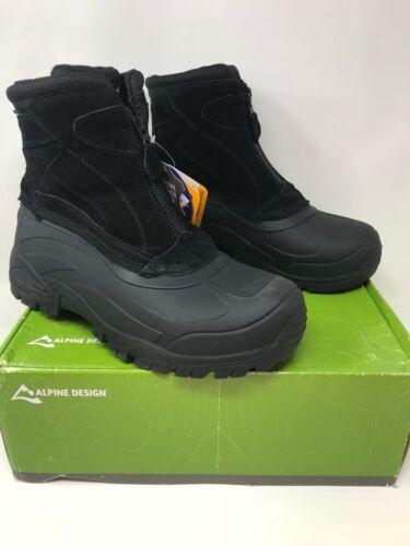 Men/'s Alpine Design Peak Slip-On Boot Black M4069 58V New
