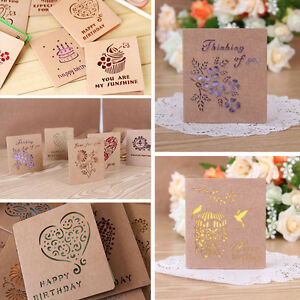 Kraft paper folding greeting cards beautiful cards korean stationery image is loading kraft paper folding greeting cards beautiful cards korean m4hsunfo