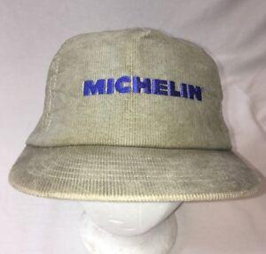 1aa6f5a92254b Image is loading Vintage-Michelin-Snap-back-Trucker-Hat-Cap-Corduroy-