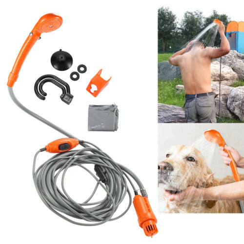 12V 5m Camping Shower Kit Electric Portable Camping Car Boat With Storage Bag