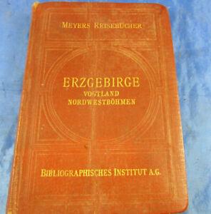 "Meyers Reiseführer ""Erzgebirge Vogtland Nordwestböhmen"" 1929 Landkarte Wandern"