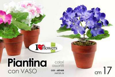PIANTA PIANTINA FINTA COLOR CON VASO H 17 CM ASSORTITA OIS-685439