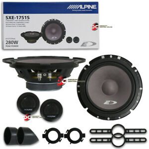 "Pair of Alpine 6.5"" 2-way Car Audio Component Speaker System"