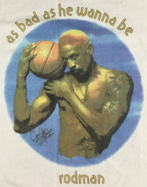True Vintage 1996 Dennis Rodman As Bad As He Wanna Be NBA Basketball T-Shirt M/L