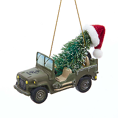 U.S Marine Corps® Vehicle With Christmas Tree Ornament w