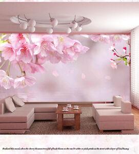 Modern-Simple-Style-Pink-Flower-TV-Background-Living-Room-Bedroom-WallPaper