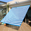 70/% 6.5/'x6.5/' Privacy Screen Net Fence Netting Shade Sail for Balcony Deck