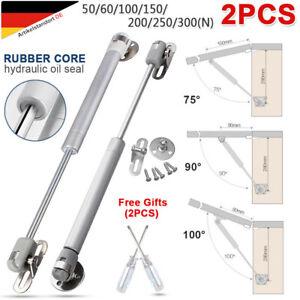 2 Gasdruckfeder Gasfeder Dämpfer Klappenbeschlag Kompressionsfeder 50-300N Möbel