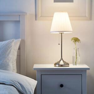Details Sur Ikea Arstid Lampe De Table Blanc Chevet Plateau Luminaire Salon Neuf