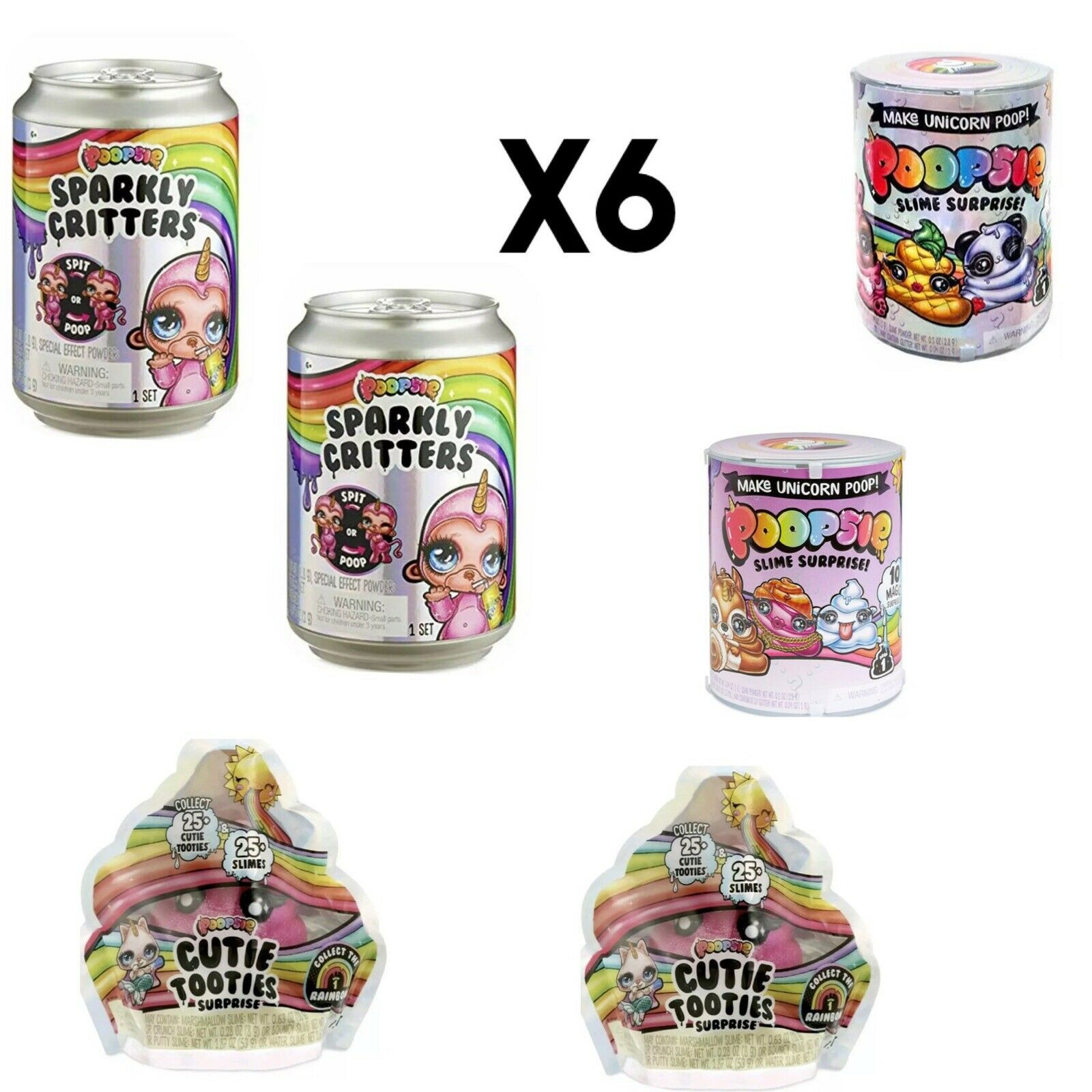 POOPSIE Sparkly Critter SURPRISE Unicorn Figure Spits Poops Slime In Hand NEW X6