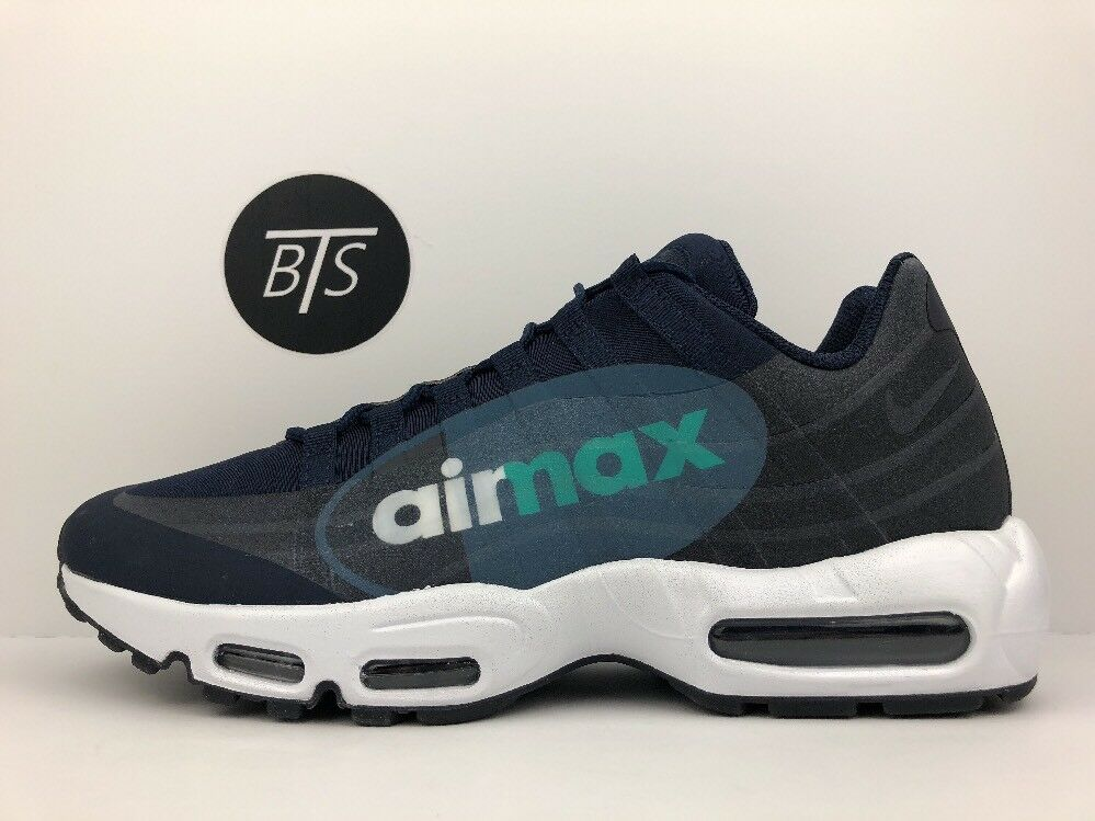 Men's Nike Air Max 95 NS GPX Size-11.5 Dark blueee Obsidian White (AJ7183 400)