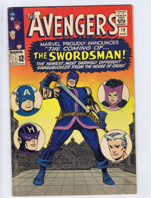 Avengers #19 Marvel 1965  1st app/Origin Swordsman, Origin Hawkeye Scarlet Witch