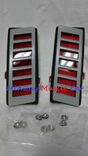 rear 1//4 panel marker lamp light assy lens bezel /& gasket 70-72 Chevy Chevelle