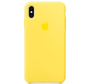 Echt-Original-Apple-iPhone-XS-Silikon-Huelle-Silicone-Case-Yellow-Kanariengelb