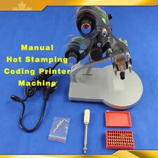 Open Box Manual Hot Stamping Coding Printer Machine Ribbon Coding Date Batch