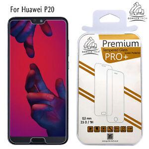 Verre-Trempe-LCD-Ecran-Protecteur-Ecran-Authentique-Gorilla-pour-Huawei-P20