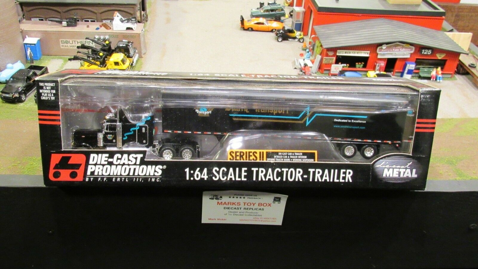 DCP 30410 Smith transport Pete 379 Semi Cab Camion 53' sec Remorque 1 64