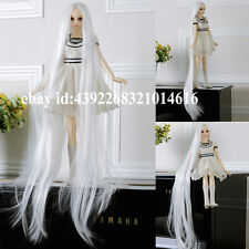 COOL White carved long straight hair For 1/3 BJD LUTS PULLIP SD Doll Wig