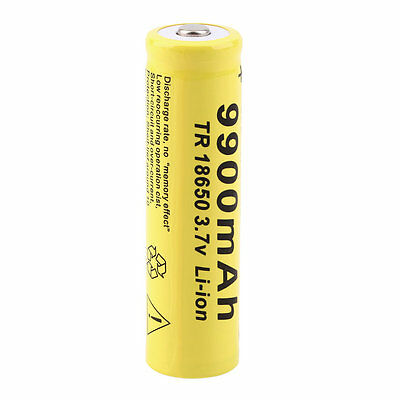 1pc 3.7V 18650 9900mah Li-ion Rechargeable Battery For LED Flashlight Torch LO