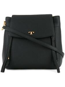 NWT-Tory-Burch-Half-Moon-Small-Crossbody-Satchel-Leather-Bag-Black-Gold-45217