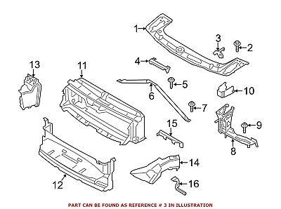 For Mercedes Genuine Radiator Support Tie Bar Bracket Left 2466210134