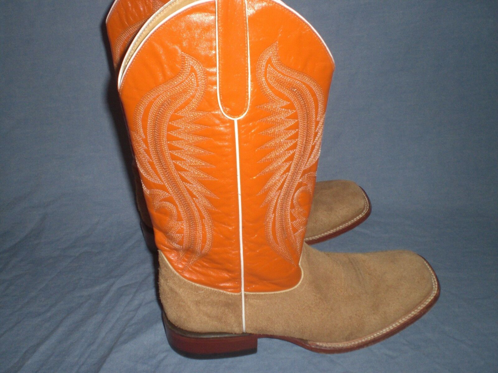 Ferrini Western Boots Womens Cowhide Square Toe Size 9 D
