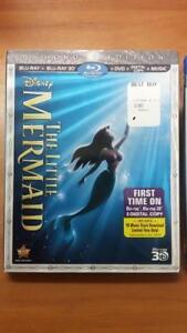 Disney-039-s-The-Little-Mermaid-Blu-ray-2D-3D-DVD-Digital-Brand-New-Sealed-Sleeve