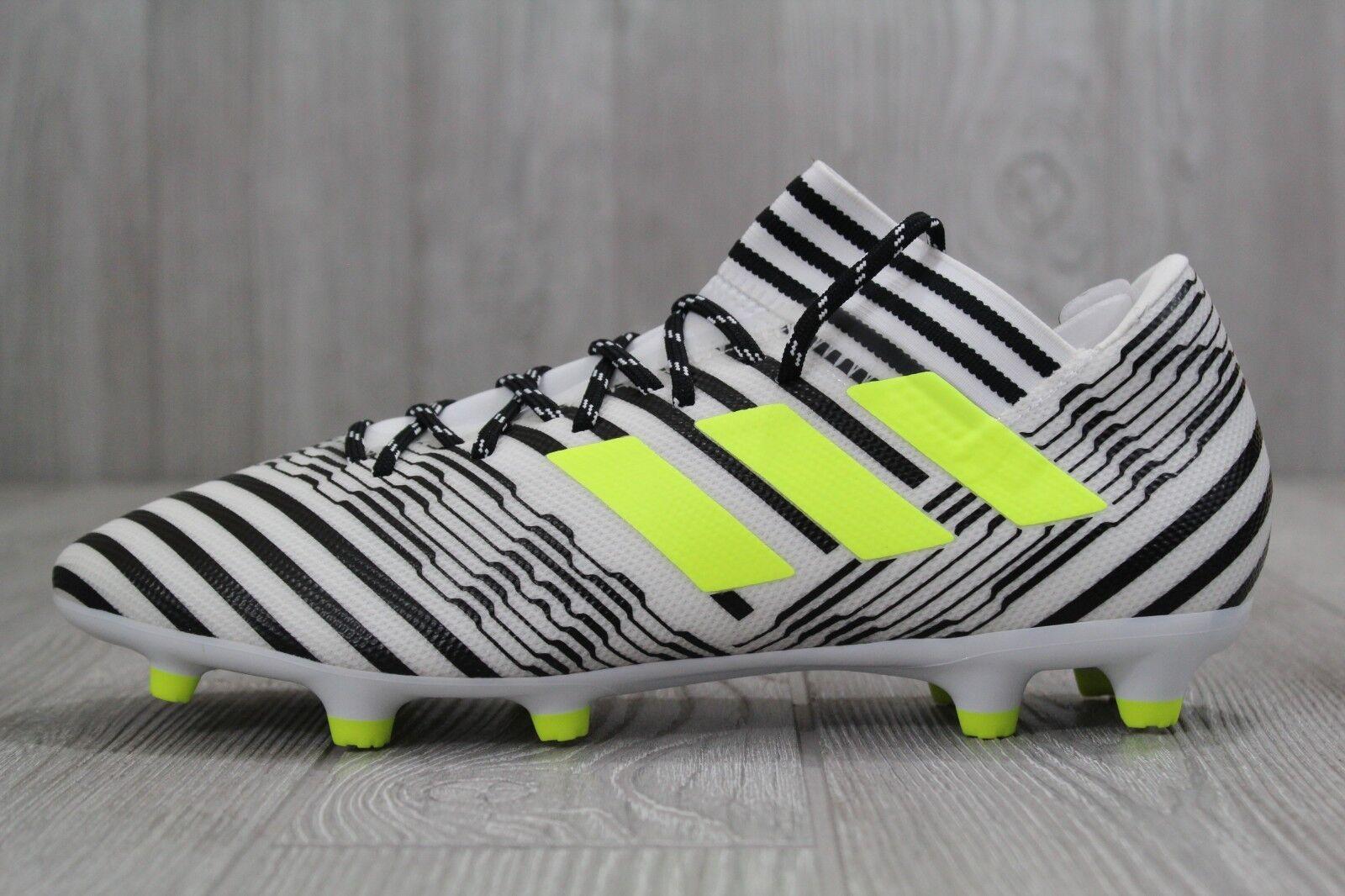 99fb4a6165d 33 Mens Adidas Adidas Adidas Nemeziz 17.3 FG White Black 7 7.5 8 9 8.5  Soccer